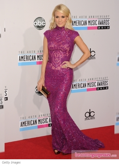 Carrie Underwood in Abed Mahfouz at the 2012 AMAs