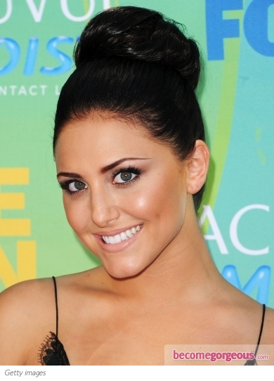 Cassie Scerbo Supersized Bun Updo