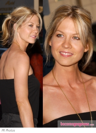 Jenna Elfman Casual Ponytail Hairstyle