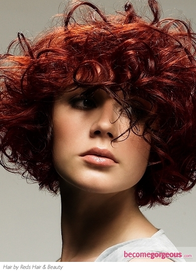 Pictures  Red Hair Color Shades  Cherry Red Hair Color