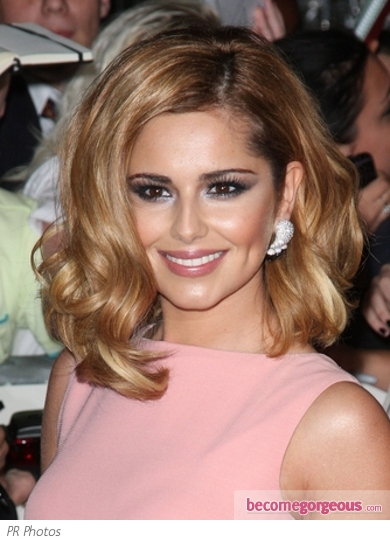 Cheryl Cole Curly Long Bob
