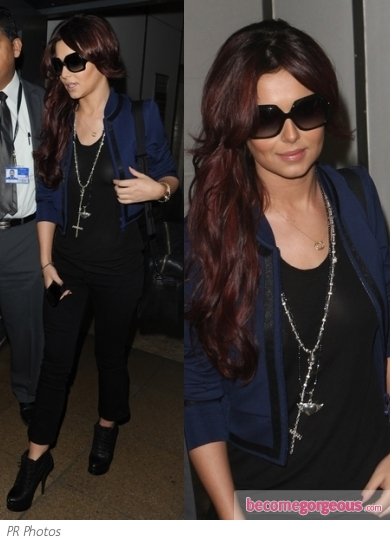 Cheryl Cole Casual Airport Style