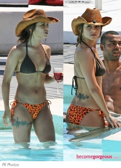 Cheryl Cole in Mismatched Bikini