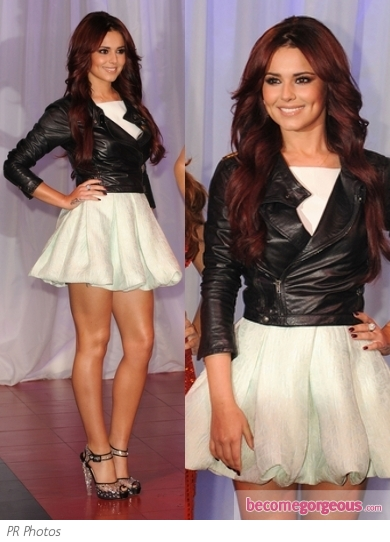 Cheryl Cole in Antonio Berardi Poufy Dress