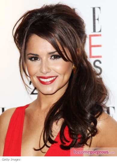 Cheryl Cole Half Updo Hairstyle