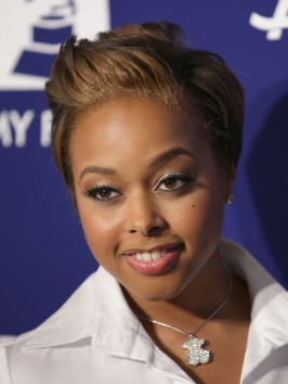 Chrisette Michele with Short Pixie Haircut
