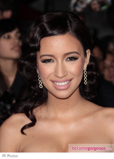 Christian Serratos Retro Curly Hairstyle