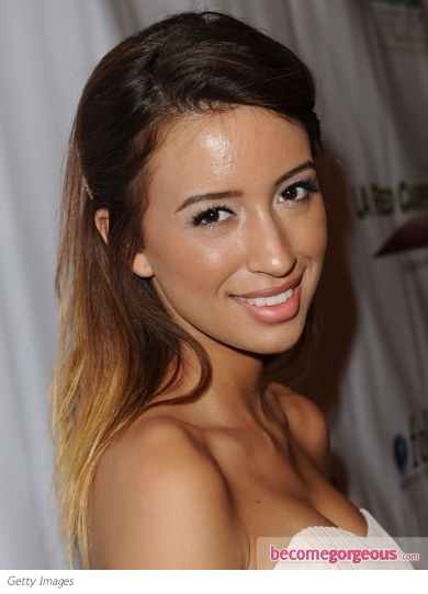 Christian Serratos Ombre Hair Color