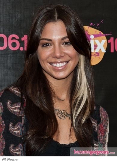 Christina Perri Casual Hairstyle