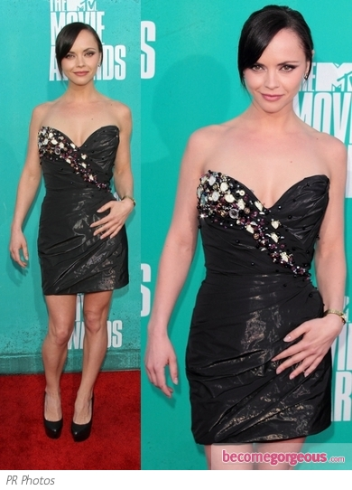 Christina Ricci in Christian Siriano LBD