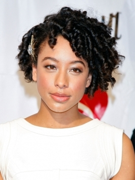 When it comes to strut your stuff, go straight to striking – just like Corinne Bailey Rae with her big curly 'do! Get fabulous maxed-out curls, by twisting hair on foam rollers and leave them in overnight!
