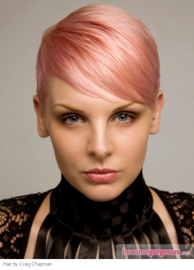 Short Pink Pixie Haircut