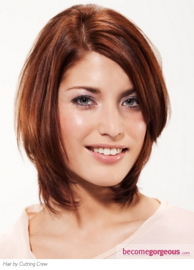 Medium Layered Red Hair Style