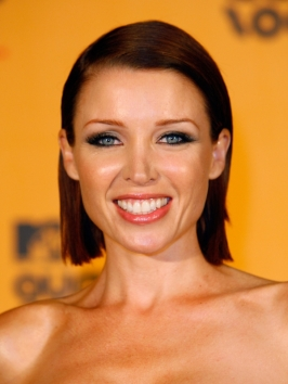 Dannii Minogue Slicked Back Bob Hairstyle