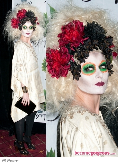 Debra Messing in Dead Bride Halloween Costume