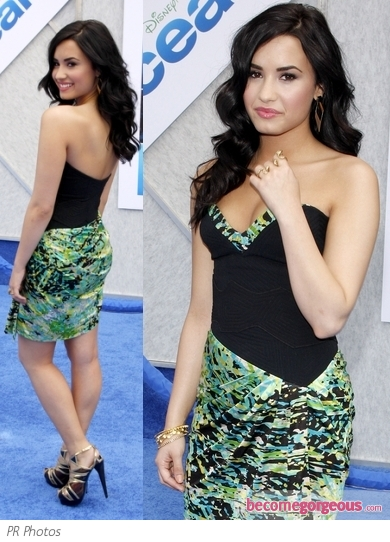 Demi Lovato in BCBG Max Azria Mini Dress
