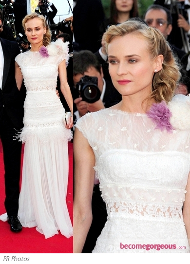 Diane Kruger in Nina Ricci White Gown