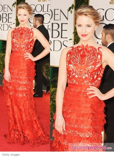 Dianna Agron in Giles at 2012 Golden Globes
