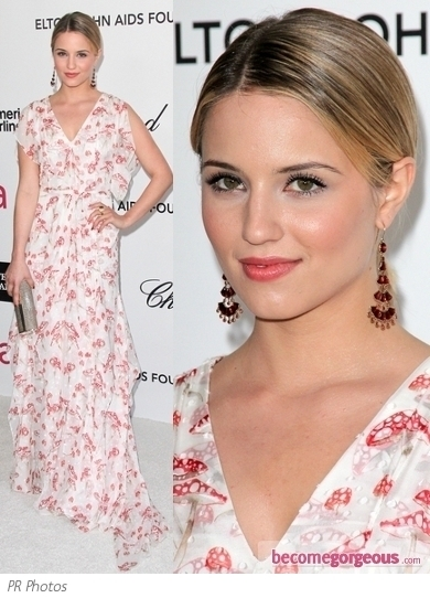 Dianna Agron in Carolina Herrera Maxi Dress