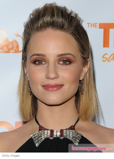 Dianna Agron Poof Hairstyle