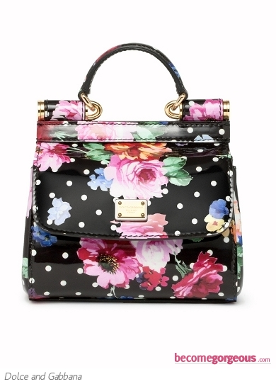 Dolce and Gabbana Medium Floral Bag