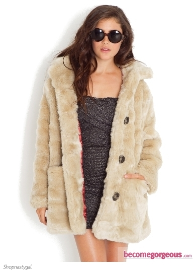 Add refinement to your outfit with this chic Faux Fox Fur Coat. Team up this wardrobe staples with party-perfect or urbane chic apparel ideas depending on your mood.