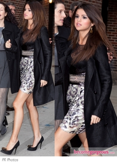 Selena Gomez in Emilio Pucci Dress