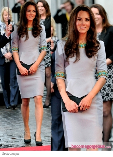 Duchess Kate in Matthew Williamson Dress