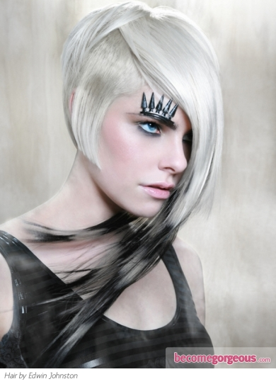 Funky Punk Asymmetrical Blonde Hair Style
