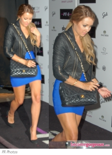 Lauren Conrad in Herve Leger Mini Skirt