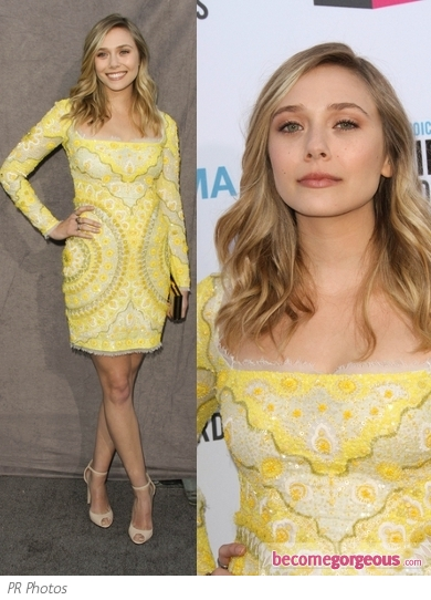 Elizabeth Olsen in Emilio Pucci Yellow Dress