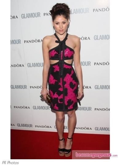 Eliza Doolittle Cut-out Pink/Black Dress