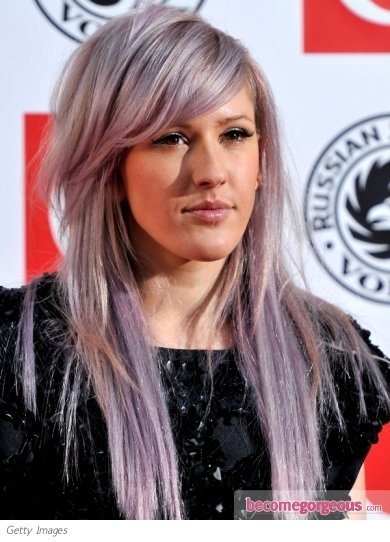 Pastel blonde shades were big in 2010 and will continue to be so throughout 2011. Ellie Goulding was spotted wearing the trend at the 2011 Brit Awards Nominations. Her pale blonde was accented with panels of lavender and peach tints.