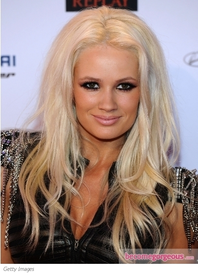Lauren Bennett High Volume Hairstyle at the 2011 EMA