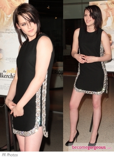 Kristen Stewart in Azzaro Graffiti Dress
