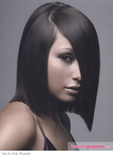 Super-Sleek Medium Hair Style