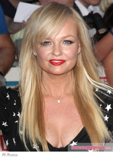 Emma Bunton Long Hairstyle with Fringe