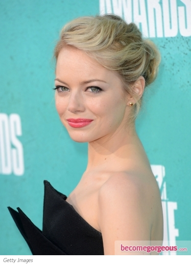 Emma Stone's Textured Updo