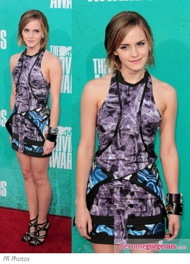 Emma Watson in Brood Printed Dress