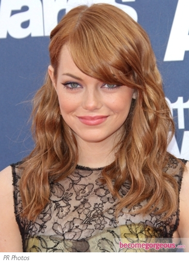 Emma Stone Red Hairstyle 2011 MTV Movie Awards