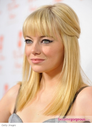 emma stone hair color red. Emma Stone New Blonde Hair