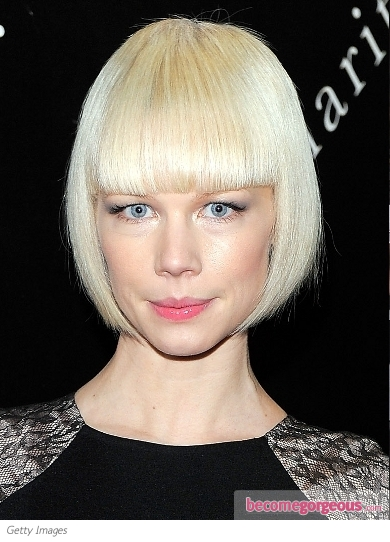 Erin Fetherson Bob Haircut with Blunt Bangs
