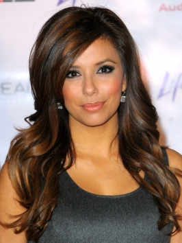 Eva Longoria Wavy Hairstyle with Volume