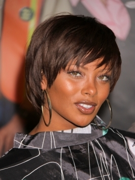 Eva Marcille makes a statement with a white blonde hair color. If you've got a lot of confidence give this look a go!