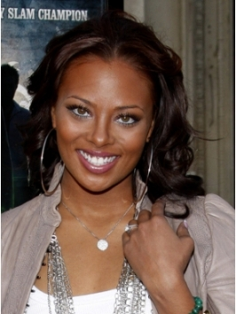 Eva Marcille Pigford with Long Curly Hairstyle