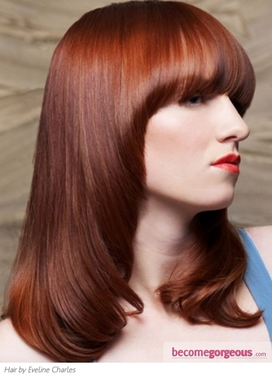 medium brown hair color pictures. medium brown hair with red