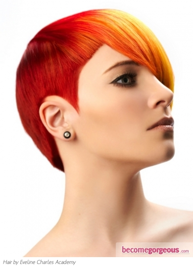 Stylish Punk Two Tone Hair Style
