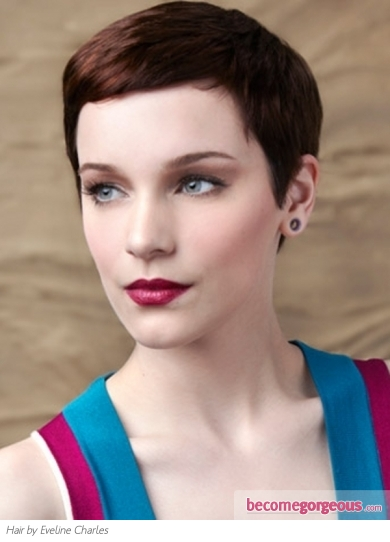 Lovely Super-Short Hair Style