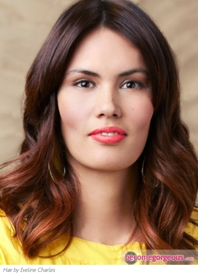 two toned hair color ideas for black. Lovely Two-Tone Brunette Hair