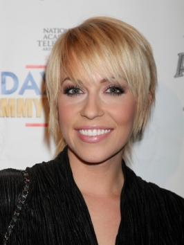 Farah Fath Blonde Short Choppy Haircut